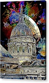 Once Upon A Time On A Warm Summers Night In San Francisco 5d22548 Artwork Acrylic Print by Wingsdomain Art and Photography