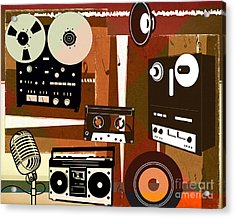 Once Upon Audio Acrylic Print by Peter Awax