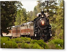 Oncoming Train Acrylic Print