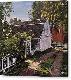 Onderdonk House  Garden Acrylic Print by Victor SOTO