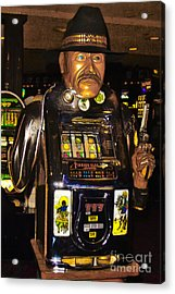One Arm Bandit Slot Machine 20130308 Acrylic Print by Wingsdomain Art and Photography