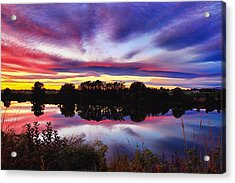 One Autumn Evening Acrylic Print by Lynn Hopwood