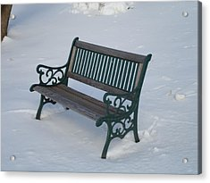One Bench Acrylic Print by Jenna Mengersen