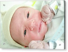 One Day Old Baby Boy Acrylic Print