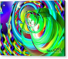 One Drop Acrylic Print by Bobby Hammerstone