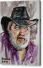 One Eyed Cowboy  Acrylic Print by Ylli Haruni