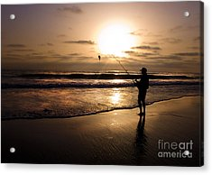 One Fish Only Acrylic Print by Angelika Drake