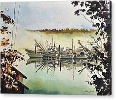 Gig Harbor Foggy Morning View Acrylic Print