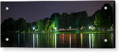 One Foot Lake Panorama Acrylic Print by Michael Williams