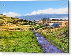 One Golden Day In Edinburgh's Holyrood Park Acrylic Print by Mark E Tisdale