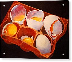 Acrylic Print featuring the painting One Good Egg by Roger Rockefeller