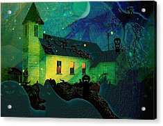 One Hallowed Evening Acrylic Print by Shirley Sirois