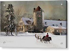 Acrylic Print featuring the photograph One Horse Open Sleigh by Robin-Lee Vieira