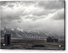 One Hundred Feet To The Out House Acrylic Print by Paul W Sharpe Aka Wizard of Wonders