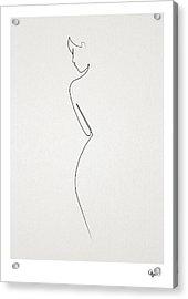 One Line Nude Acrylic Print