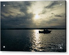 One Lonely Fisherman Acrylic Print by John Telfer