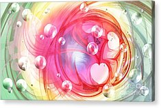 One Love... One Heart... One Life Acrylic Print by Peggy Hughes