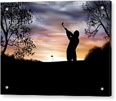 One More Hole - A Late Round Of Golf Acrylic Print by Ron Grafe