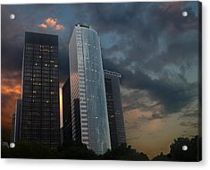 One New York Center Acrylic Print