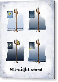 One Night Stand Acrylic Print by Mark Armstrong