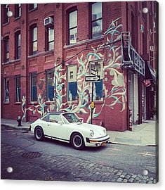 One Of My Favorite Wall With Graffiti Acrylic Print by Pavel Bendov