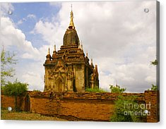 One Of The Countless Buddhist Pagodas In Bagan Burma Acrylic Print by PIXELS  XPOSED Ralph A Ledergerber Photography