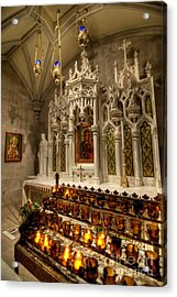 One Of The Twelve Stations Of The Cross In St Patricks Cathedr Acrylic Print by Amy Cicconi