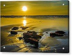 One Oregon Coast Sunset Acrylic Print by Puget  Exposure