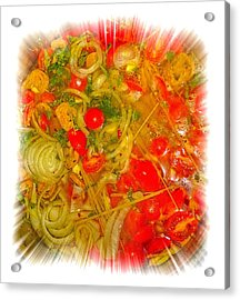 One Pan Pasta Cooking Acrylic Print