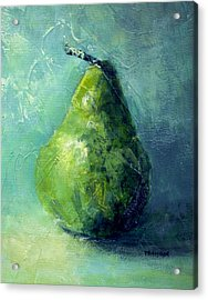 One Pear Acrylic Print by Bob Pennycook