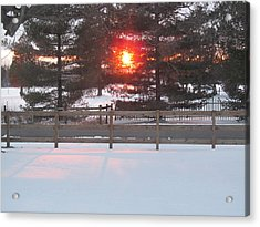 One Rare Winter Sunset Acrylic Print