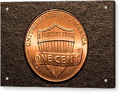 One Red Cent Acrylic Print by S Cass Alston