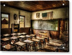 One Room School Acrylic Print by Lois Bryan