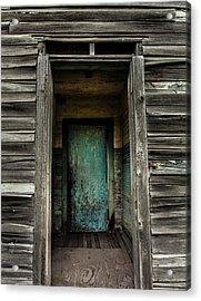 One Room Schoolhouse Door - Damascus - Pennsylvania Acrylic Print