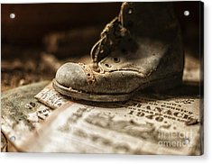 One Single Shoe Acrylic Print by Terry Rowe