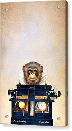 One Thousand Monkeys Acrylic Print by Will Bullas