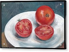 One Tomato Two Halves Acrylic Print