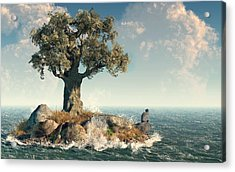 One Tree Island Acrylic Print by Daniel Eskridge