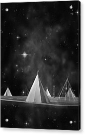 One Tribe Bw Acrylic Print by Laura Fasulo