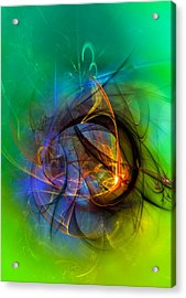 Colorful Digital Abstract Art - One Warm Feeling Acrylic Print
