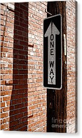 One Way Acrylic Print