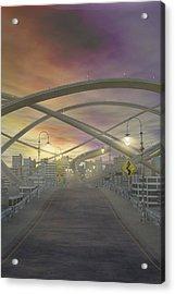 One Way No Exits Curves Ahead Acrylic Print