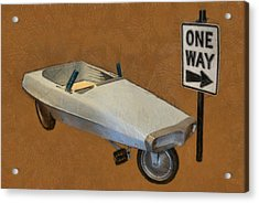 One Way Pedal Car Acrylic Print by Michelle Calkins