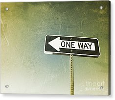 One Way Road Sign Acrylic Print