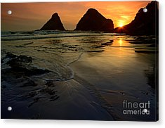 One With The Sea Acrylic Print by Nick  Boren