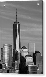 One World Trade Center Bw Acrylic Print