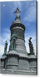 Oneida Square Civil War Monument Acrylic Print by Peter Gumaer Ogden