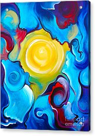 Oneness Acrylic Print by Gem S Visionary