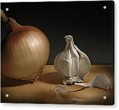 Onion And Garlic Acrylic Print