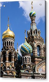 Onion Domes Church Of Spilled Blood Acrylic Print